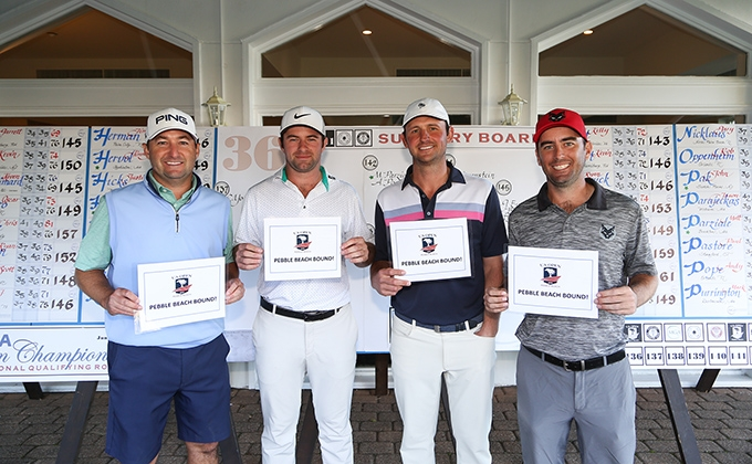 U.S. Open Qualifiers Rob Oppenheim, Cameron Young, Matt Parziale, and Andy Pope