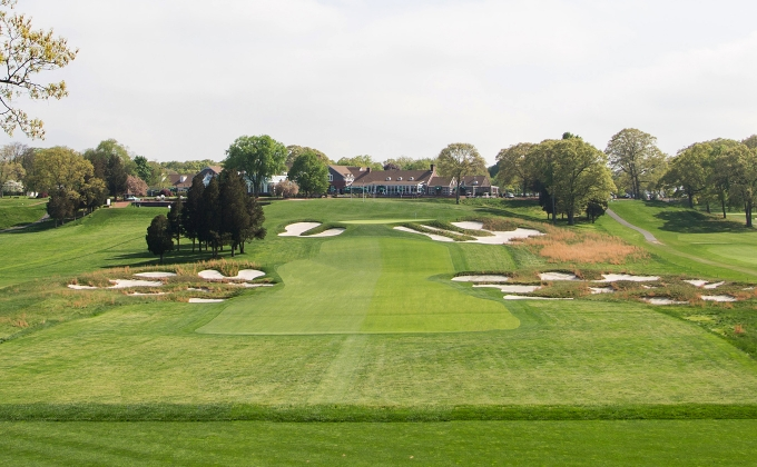 18th hole of Bethpage State Park's Black Course