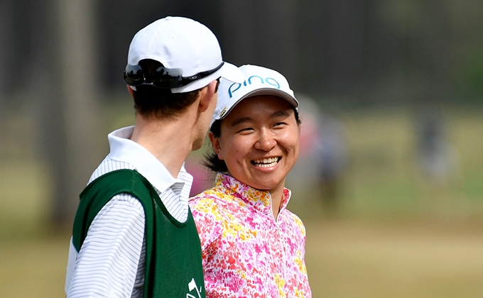New Jersey's Alice Chen competing at the Augusta National Women's Amateur
