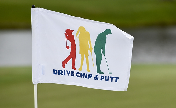 Drive, Chip and Putt flag