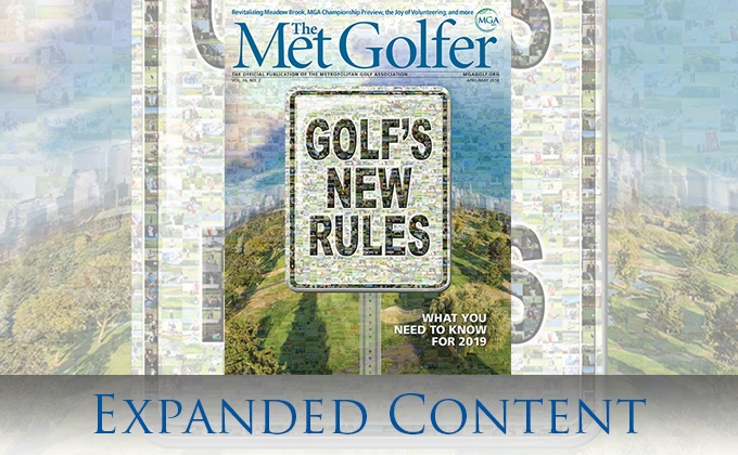Met golfer magazine cover from April/May issue