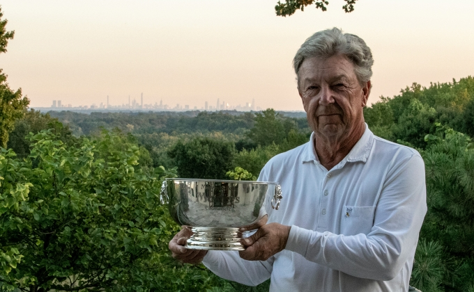 Jim Graham with Senior Masters Trophy