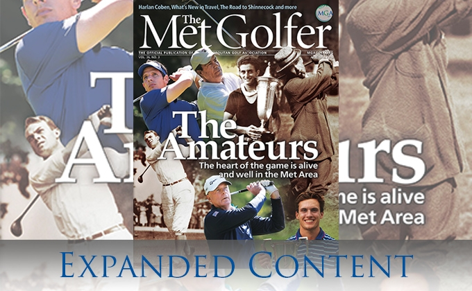 the cover of the June-July Met Golfer magazine