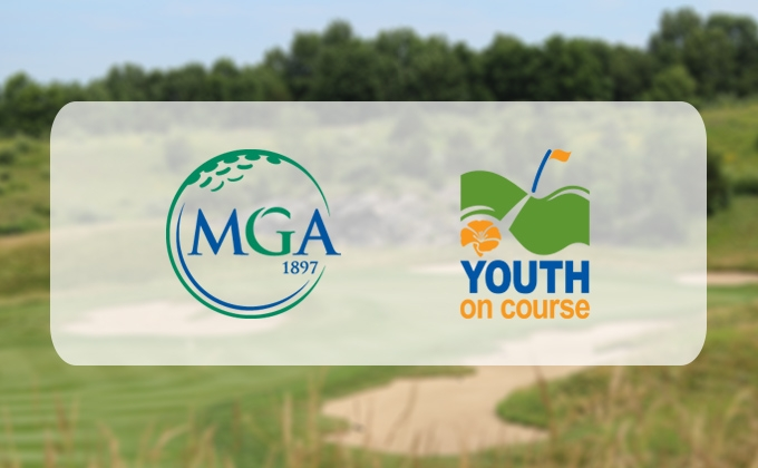 MGA logo and Youth on Course logo