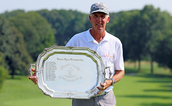 Mark Mielke with the MGA Senior Open Tray