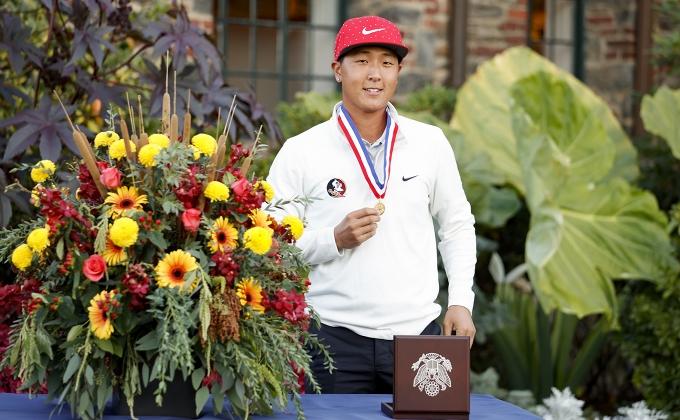 John Pak, U.S. Open Low Amateur with Medal