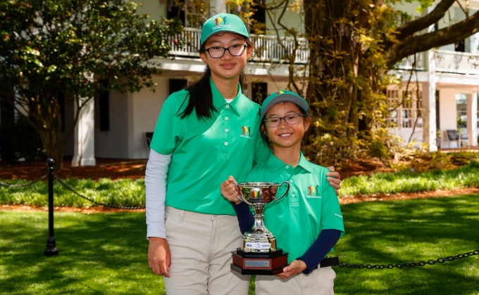 Amelie and Alexandra Phung at the Drive, Chip & Putt National Finals
