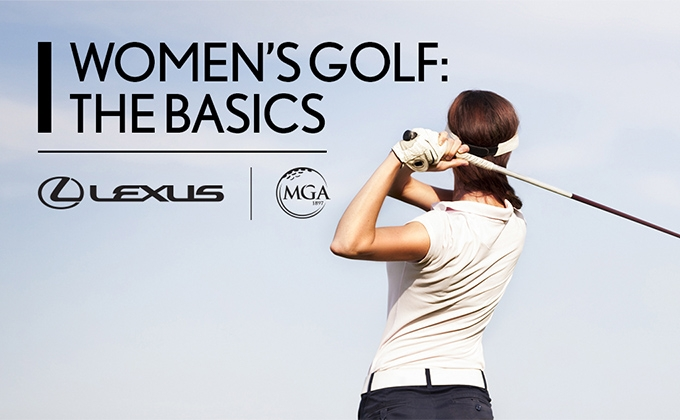 Woman swinging a golf club, Introduction to Women's Golf with Lexus