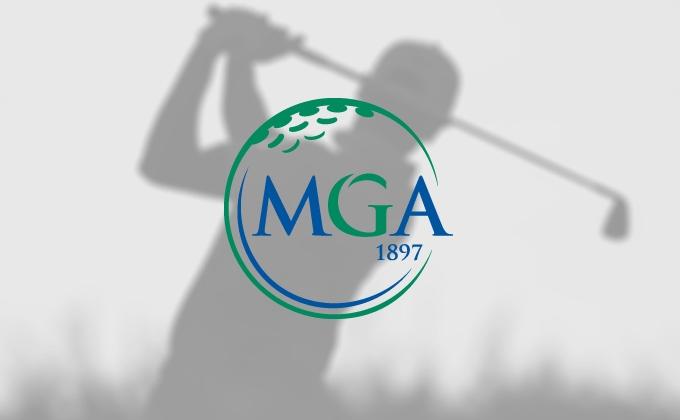 Swing silhouette and MGA logo