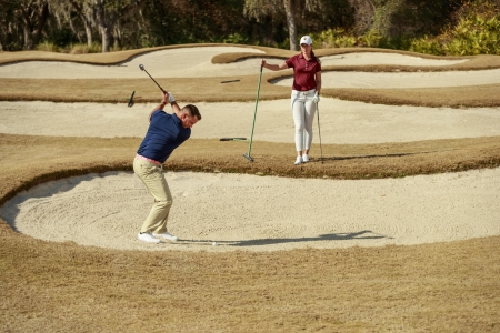 hitting out of a bunker
