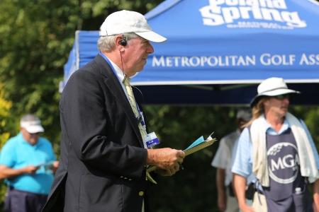 Robert J. Bluestone serving as an official starter