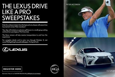 Lexus Drive Like A Pro Sweepstakes details, Peter Jacobsen, Lexus F Sport