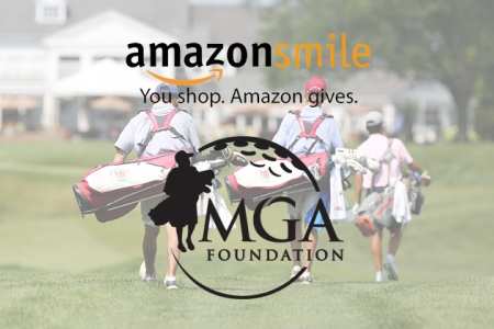Kids carrying clubs overset with AmazonSmile and MGA Foundation logo