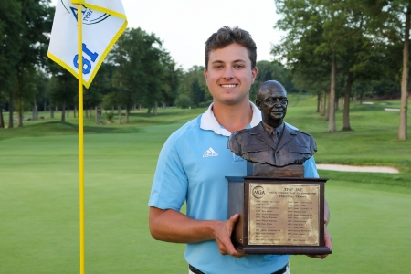 Dawson Jones and the Ike trophy