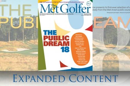 the cover of the August-September Met Golfer magazine