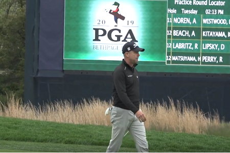 Rob Labritz walking at the PGA Championship