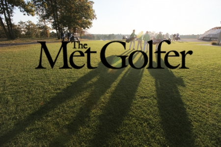 MetGolfer text over an image of golfer's shadows