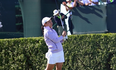 Alice Chen teeing off