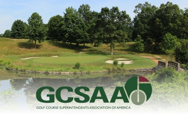 Bedford Golf & Tennis Club 10th hole and GCSAA Logo