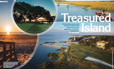 Cover Spread for Hilton Head Island Travel Story in Nov-Dec Met Golfer