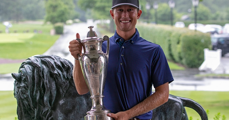 Christian Cavaliere with the Westchester Amateur Trophy