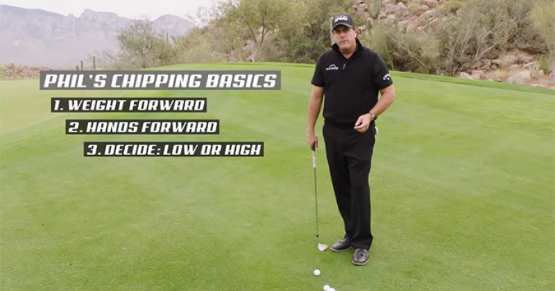 Phil Mickelson Chipping Instruction Video Screenshot