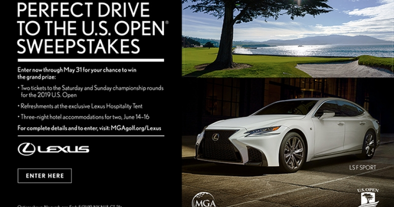 Perfect Drive to the U.S. Open Sweepstakes with Lexus